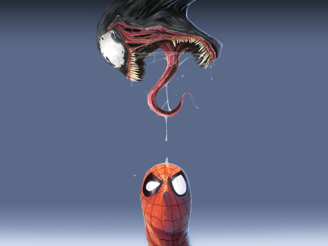 Spiderman And Venom 壁紙画像