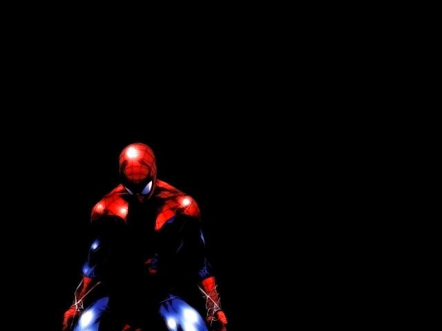 Spiderman In His Web 壁紙画像
