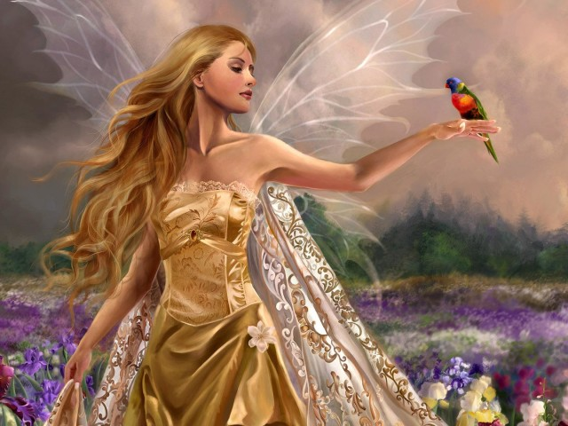 Spring Fairy 壁紙画像