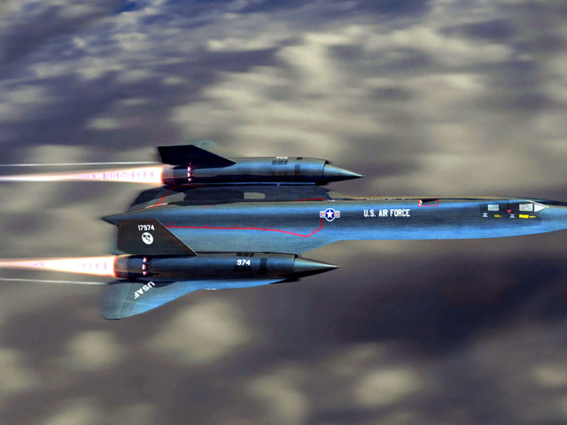 Sr71 Blackbird Afterburn 壁紙画像