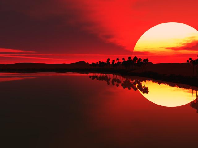 Sunset Earth 壁紙画像