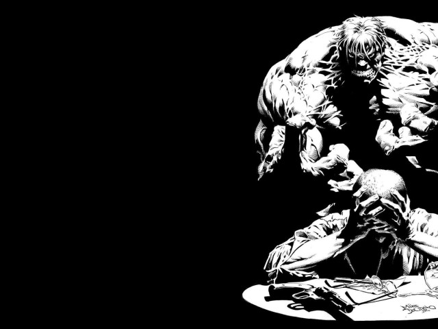 The Hulk Black And White 壁紙画像
