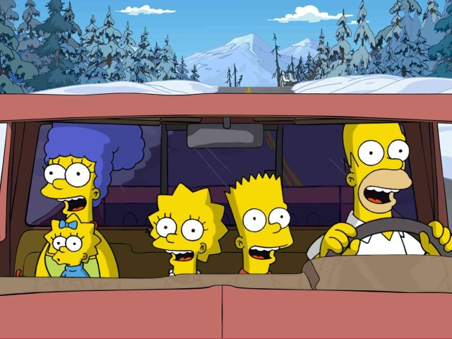 The Simpsons In The Car 壁紙画像