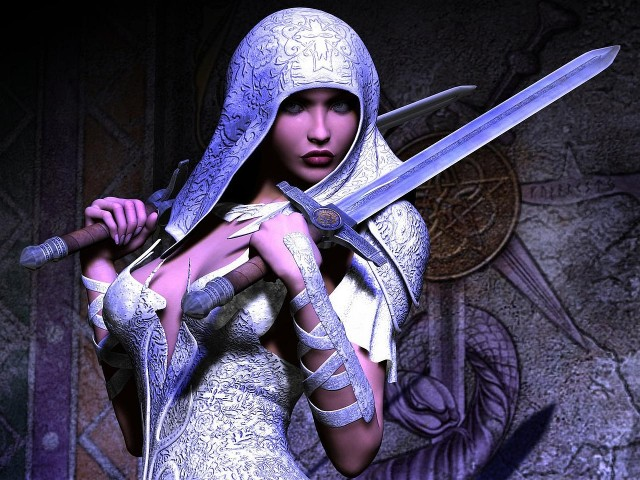 Woman With Two Swords 壁紙画像