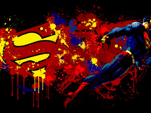 Artistic Superman 壁紙画像