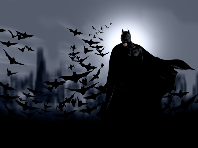 Batman And His Cape Of Bats 壁紙画像