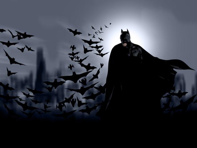 Batman And His Cape Of Bats 壁紙画像