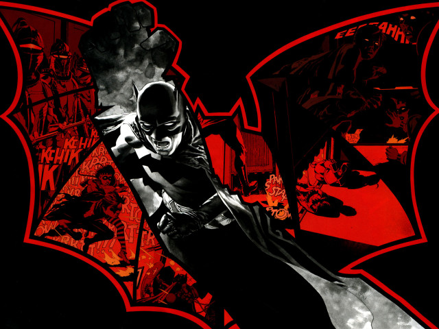 Black And Red Batman 壁紙画像