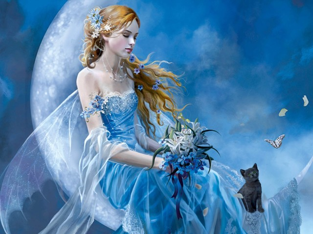 Blue Moon 壁紙画像