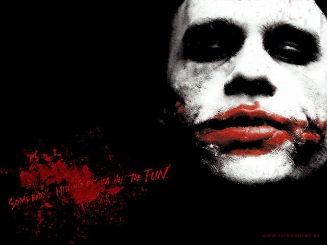 Closeup Joker From Batman 壁紙画像