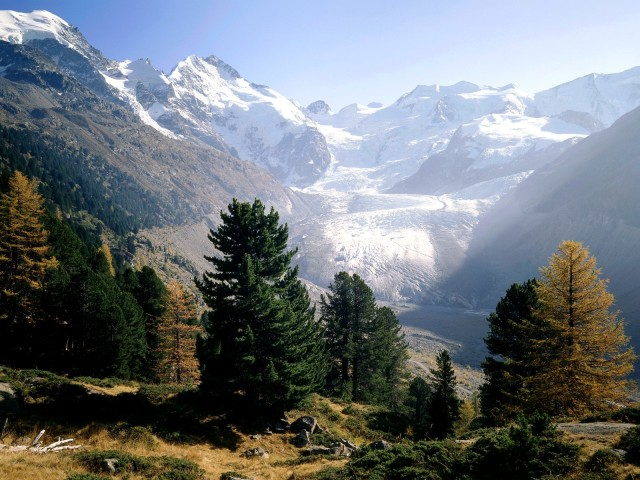 Glacier In Switzerland 壁紙画像