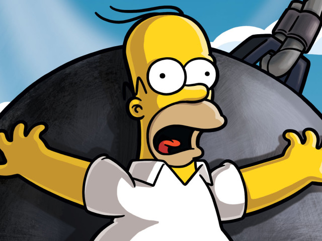 Homer In A Wrecking Ball 壁紙画像