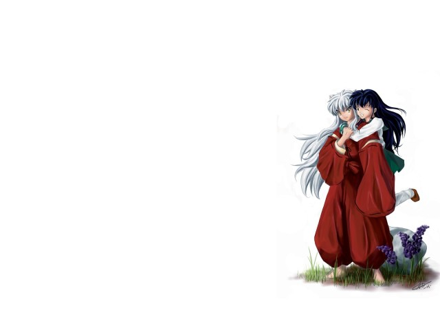 Inuyasha And Kagome 壁紙画像