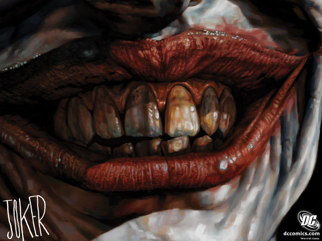 Joker's Mouth Closeup 壁紙画像