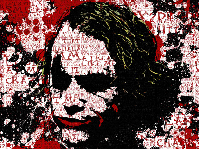 Joker Blood Splatter 壁紙画像