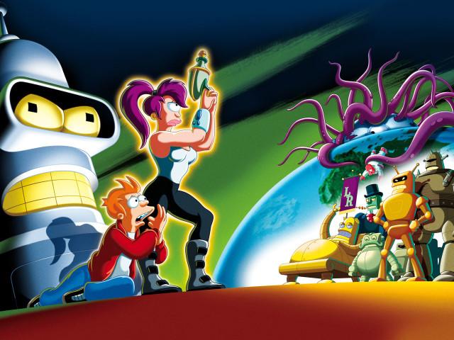 Leela, Fry And Bender 壁紙画像