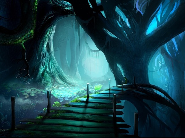 Mysterious Tree Forest 壁紙画像