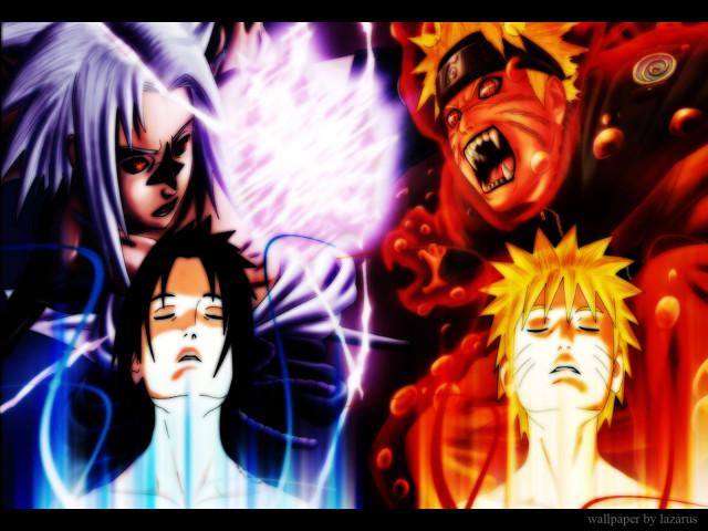 Naruto Vs. Sasuke 壁紙画像