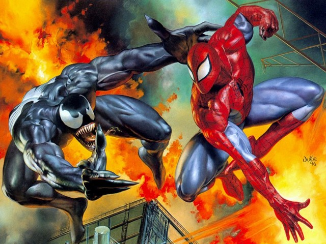 Spiderman Vs Venom 壁紙画像