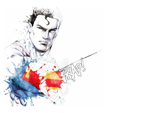 Superman In Watercolor 壁紙画像