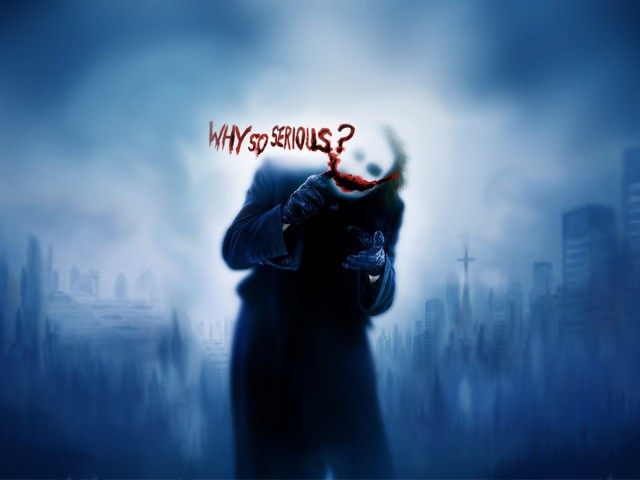 The Joker, Why So Serious 壁紙画像