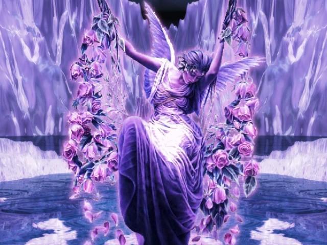 Violet Angel 壁紙画像