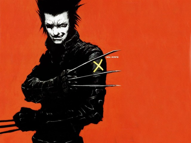 Wolverin Black And White 壁紙画像