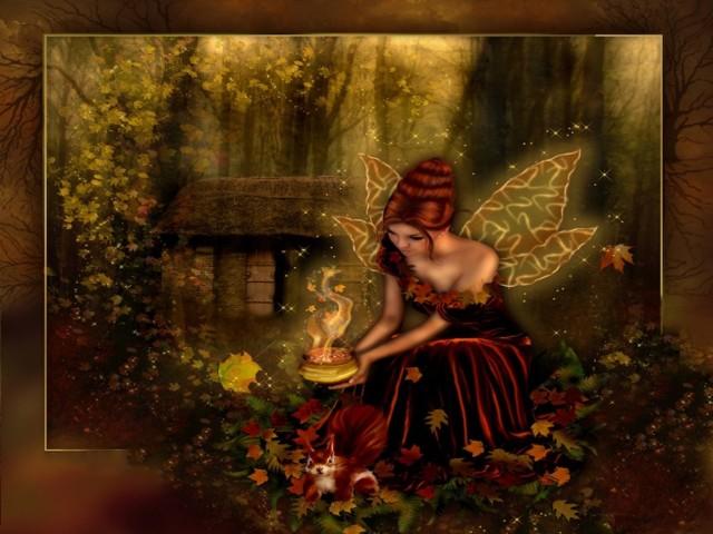 Woodland Fairy 壁紙画像