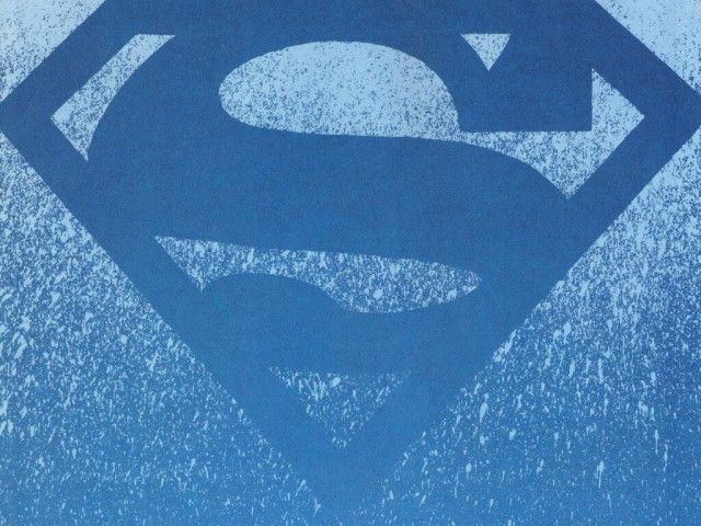 Blue Superman Logo 壁紙画像