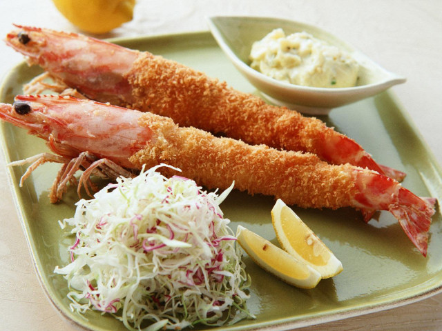 Fried And Breaded Shrimp 壁紙画像