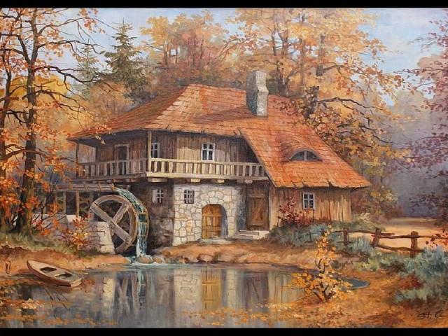 Grist Mill 壁紙画像
