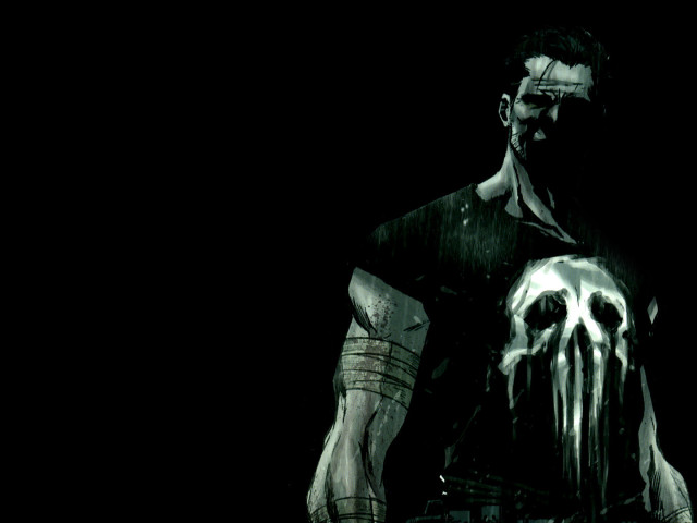 The Punisher In Black And Grey 壁紙画像