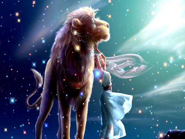 The Woman And Her Lion 壁紙画像