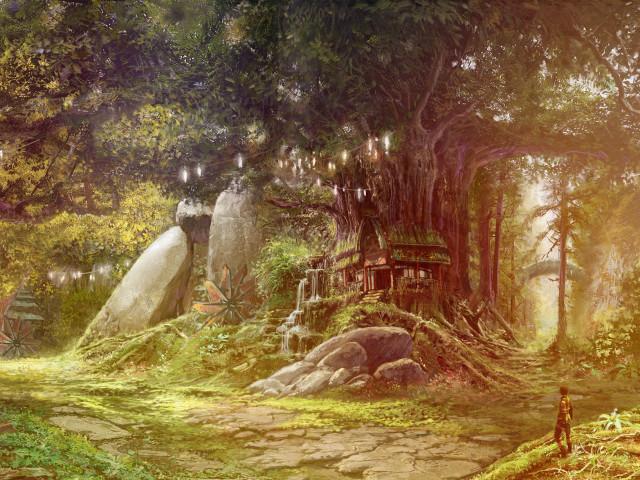 Town Fantasy 壁紙画像